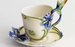 Hummingbird gifts tea cup