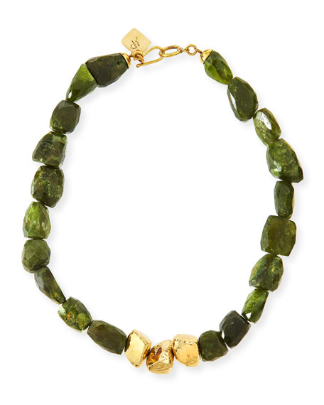 Tumba Rocky Peridot Necklace