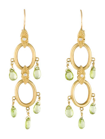 8K Peridot Chandelier Earrings